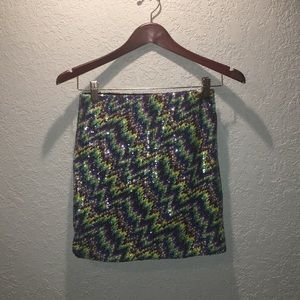 Xhilaration multi color sequin mini skirt NEW